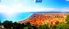 Nice/Promenade des Anglais (View from Castle Hill) (traceplaces) Tags: france nice town traceplaces promenadedesanglais frenchriviera castlehill water