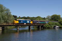 37409 - 2P57 - Whitlingham Country Park - 30.06.2018 (Tom Watson 70013) Tags: br british railway blue large logo class37 37409 lord hinton 2p57 drs direct rail services ga greater anglia norwich whitlingham country park river yare short set