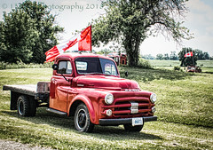 Happy Canada Day (HSS) (13skies) Tags: canadaday july1st truck flag canadianflag old antique classic red sitting celebrate country driving roadtrip