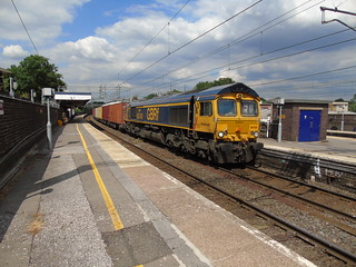 66740 At wilmslow with a train from trafford park euro terminal gbrf to felixstowe.