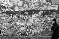 Lennon Wall (xalphas) Tags: people prague blackandwhite streetphotography bw monochrome fujifilm street