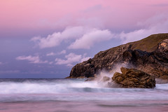 Rockin' (cliveg004) Tags: sangobay durness sutherland sea rocks beach cliffs sunset waves pink clouds scotland northwesthighlands sand nikon d5200 storm stormclouds front