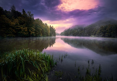 Morning Calmness (Croosterpix) Tags: landscape nature morning lake water reflection calmness clouds sky sunrise croatia trakoscan
