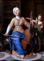 IMG_2378KA Nicolas Colombel 1646-1717 Paris  Sainte Cécile. St. Cecilia. Rouen Musée des Beaux Arts. (jean louis mazieres) Tags: peintres peintures painting musée museum museo france normandie rouen muséedesbeauxarts