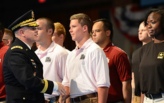 New Soldiers sworn in by Army National Guard Director at Twilight Tattoo