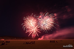Red Boom (kevin-palmer) Tags: july summer wyoming nikond750 bighorn equestriancenter fireworks colorful night evening july4th independenceday samyang rokinon14mmf28 smoke grass