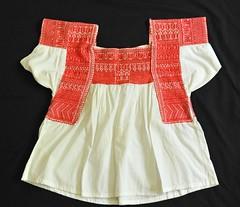 Nahua Embroidered Blouse Puebla Mexico (Teyacapan) Tags: mexican embroidered blouses blusa mexicana tehuacan altepexi vintage textiles ropa clothing
