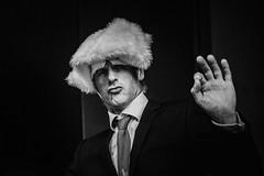 13,308 (Panda1339) Tags: thegreat50mmproject 50mm london ldn impersonator trumpprotest streetphotography man monochrome blackandwhite uk light 2018 trump march 13308