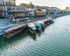 boats at sunset (ovenbakedpixels) Tags: kyoto japan water boats sunset boat river