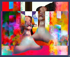 One summer day / Artist :Eliza Wierwight (THX 4million View - Bamboo Barnes - Artist.Com) Tags: elizawierwight secondlife art installation salt lea7 surreal virtualart digitalart texture manipulation woman spoon vivid red pink blue purple green white black bamboobarnes yellow orange