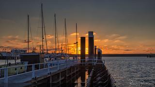 Sunset Stellendam harbor