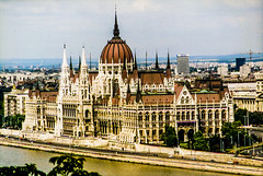 Hungary's Parliament (Bill in DC) Tags: parliament hungary budapest danube 1996 film 35mm kodacolor canoneosa2 smp7