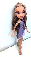 Pretty n' purple (dolldudemeow24) Tags: bratz girls nite out yasmin dress party glitter fashion doll dolls 2003 2004 2018