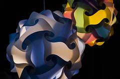 paper lights (John Velasquez Photography) Tags: paper lights colors minimalism