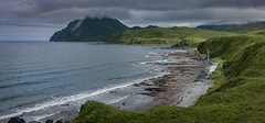 The way to Summer Bay and Split Top Mountain (Lera Tukov) Tags: mountains sea beach green clouds unalaska alaska dutch harbor canon eos 70d aleutians summer bay island