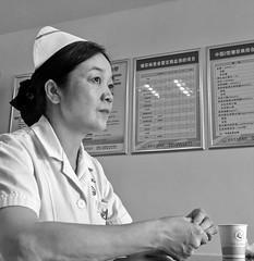 Nurse (markb120) Tags: woman female she wife oldwoman feminine bw nurse