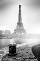 Eiffel Tower (Fabdub) Tags: paris eiffel tower blackandwhitephotography blackwhite noirblanc noiretblanc monochrome eiffeltower toureiffel fog leica leicaq