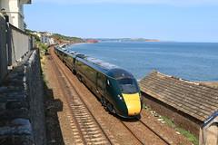 802002 | 5Z92 (15:24) Exeter St David's - Par | Dawlish Seawall (Jacob Tyne) Tags: class 802 80x 802002 iet hitachi intercity express train 5z92 1524 exeter st davids par fgw gwr first great western railway green dawlish seawall