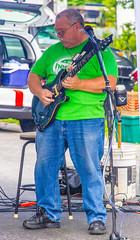 End Of Set Solo (John Kocijanski) Tags: music people guitarist guitar streetphotography streetcandid streetfair canon18135mmstmlens