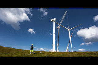 Dismantling the famous Tauernwindpark in Austria