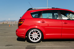 DSC_0697 (jaytotheveezy) Tags: pontiac vibe base lava red 1zz work crkai kiwami ultimate bcracing coilovers toyo tires genvibe