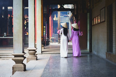 Vietnamese woman in Ao Dai white-traditional dress of vietnam (Patrick Foto ;)) Tags: aodai hochiminh adult asia asian attractive back background beautiful beauty charming china chinese city closeup costume culture cute decoration dress face fashion female girl hair happy lady lifestyle lovely model oriental people person portrait pose pretty rear standing street temple tourism traditional travel two urban vietnam vietnamese vintage white woman young hochiminhcity hồchíminh vn