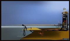 Sentado en el espigón del puerto de Valencia (Amparo Higón) Tags: puertodevalencia espigón breakwater valencia summer verano digitalart digitalpaintig kunst modernekunst artecontemporáneo coreldraw amparohigón
