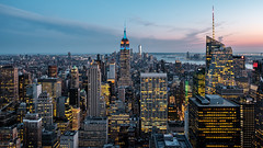 Manhattan Blue Hour (GeraldGrote) Tags: bluehour skyline city empirestatebuilding newyork manhattan usa topoftherock us