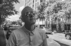 Sunglasses (grexsysllc) Tags: nikonphotography nikon blackandwhitephotography blackwhite blackandwhite peoplewatching people sunglasses austin austintexas raineystreet portrait hipster austinite