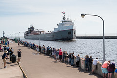 Plenty of Front Row Viewing 20180525-DSC09308 (Rocks and Waters) Tags: sonyalpha a6300 canalpark duluth lake lakesuperior michipicoten minnesota northshore people zeiss freighter greatlakes power rocksandwaters ship sony transportation variotessare1670 water