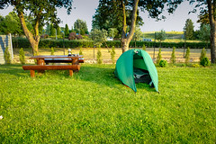 Tag 3 (6) 1104 Km (uwesacher) Tags: gras park baum camping zelt bank tisch kaffee gaskocher suwałki woiwodschaft podlachien nr133