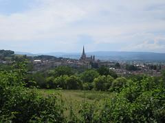 La cathédrale Saint-Lazare vue de la pyramide de Couhard, Autun (71) (Yvette G.) Tags: autun saôneetloire 71 bourgogne panorama 1mois1thème cathédrale grandsespaces