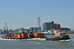 GPS Cambria (4) @ Woolwich Reach 27-06-18 (AJBC_1) Tags: riverthames london tug gpsmarine ©ajc dlrblog england unitedkingdom uk ship boat vessel northwoolwich eastlondon newham londonboroughofnewham ajbc1 gpscambria nikond3200 stantug1606 damen damenshipyardsgroup pontoon devon woolwichreach