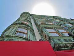 Columbus Tower, San Francisco, California (Robert C. Abraham) Tags: sanfrancisco architecture columbustower copper oxidized patina 1907 zeotrope building buildings sky skyscraper cali california cafe