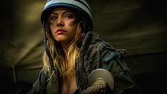 army woman (Bert de Bruin) Tags: portrait hot head face sensual sexy wonenwithrifle eyes experience usa united photo fhotographer fotobertdebruin