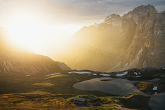 South Tyrol (marinaweishaupt) Tags: southtyrol dolomites dolomiti dolomiten sunrise morninglight mountains hiking cabin hut landscape summer light lakes water outdoors travel