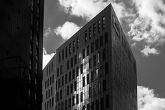 Light on the bow (Johnbasil1) Tags: newcastleupontyne architecture cityscape dark highlights imposing light mono patterns repeating