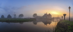 Dusty Morning - Zaanse Schans (Light Levels Photoworks) Tags: zaanse schans architecture architektur adventure atmosphere clouds d750 dusk dämmerung europe europa earth fluss landscape landschaft moment morning nikon nikkor outdoor perspectives paysage photography perspektive panorama sunrise sun sunlight sunny nebel dust sweet time travel view voyage viewpoints village world wetter wolken wasser wideangle windmühle windmill weather water reflexion reflection