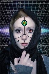 First Contact (Jackie XLY) Tags: scifi sciencefiction robot mechanoid android cyborg