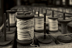 Spun (95wombat) Tags: old timeworn mellowed mill machinery tools bw monochrome historic industrial slatermill pawtucket rhodeisland