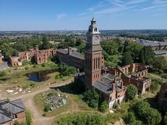 St Crispins Asylum (Sam Tait) Tags: victorian mental lunatic county hospital northampton ward water tower clock uav djispark spark drone dji abandoned derelict asylum stcrispin's stcrispins
