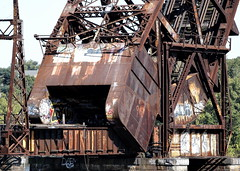 Solid (95wombat) Tags: old abandoned decayed rotted rusty corroded derelict vandalized nynhh railroad liftbridge providence rhodeisland