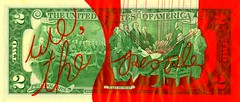 We, The People..... (Daniel Ari Friedman) Tags: usa america july 4th country nationalism founding fathers declaration independence 1776 god we trust money bill 2 two note drawing art pen paper ink red black white artist creative daniel friedman danielarifriedman science philosophy cartoon person