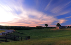 Sunset Pasture (Daniel Q Huang) Tags: hourse sunset clouds glow colorful