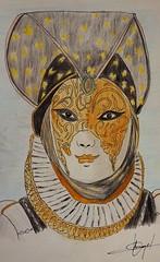 Venecia a lápiz 2 (Angel Cisneros Roman) Tags: venecia italia dibujo carnaval lápiz