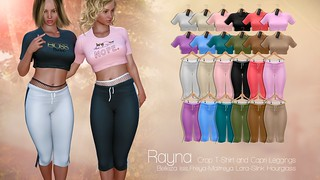 Rayna  CropTShirt and Capri Leggings