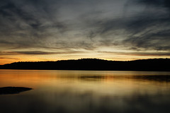 Sunset on Macdonald Lk (Wil James) Tags: elements niccollection ontario canada haliburton sunset reflection longexposure sony zeiss sky water summer dusk forest sonyilca99m2 silhouette