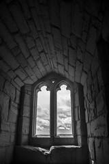Hope (marktmcn) Tags: warkworth castle keep window interior blackandwhite monochrome d610 northumberland english heritage light historic clouds sky