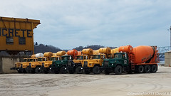 Mack DM Mixers (Trucks, Buses, & Trains by granitefan713) Tags: mack macktruck mixer mixertrucks concretemixer cement cementmixer triaxle dm mackdm heavy duty