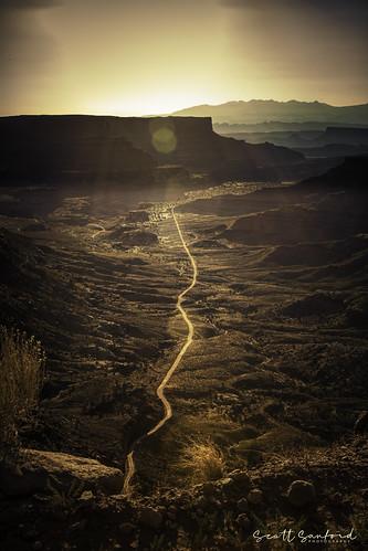 Golden Sunrise on Shafer Canyon